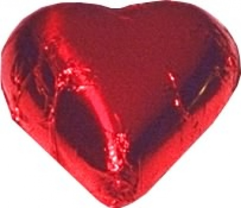 CHOCOLATE HEART RED 500G