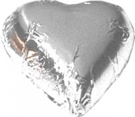 CHOCOLATE HEART SILVER 500G