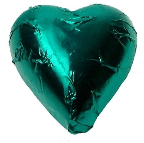 CHOCOLATE HEART TEAL 500G