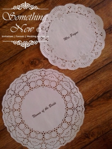 ASHLEEX - DOILY PLACE CARD / MAT