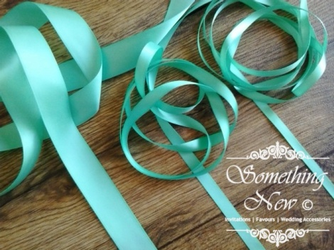 25MM SATIN RIBBON - SEA GREEN