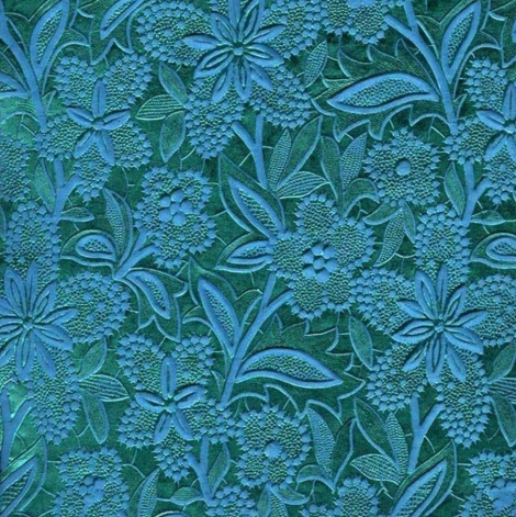 A4 EMBOSSED BLOOM PAPER - AQUA/TURQUOISE