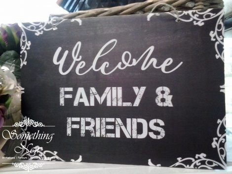AISLE SIGN - WELCOME FAMILY AND FRIENDS
