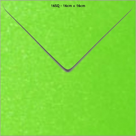 16SQ METALLIC ENVELOPE - APPLE GREEN