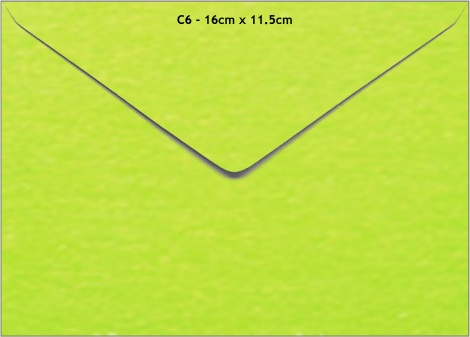 C6 METALLIC ENVELOPE - LIME