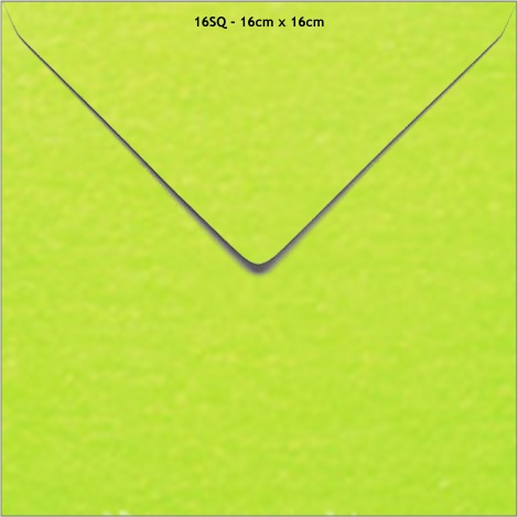 16SQ METALLIC ENVELOPE - LIME