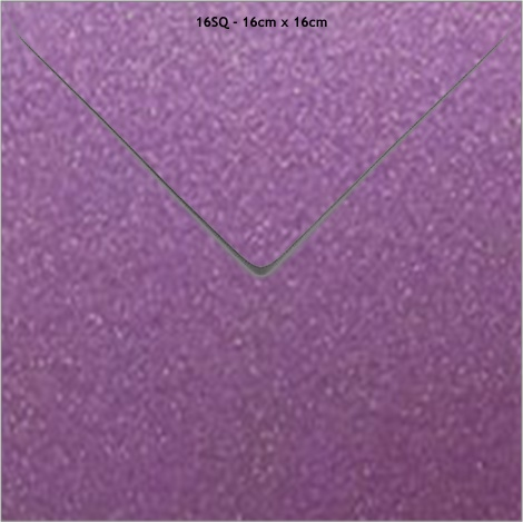 16SQ METALLIC ENVELOPE - ORCHID