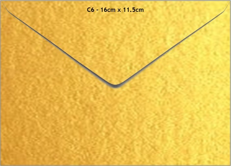 C6 METALLIC ENVELOPE - GOLD