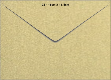 C6 METALLIC ENVELOPE - GOLD LEAF