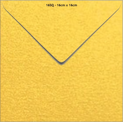 16SQ METALLIC ENVELOPE - SUPER GOLD