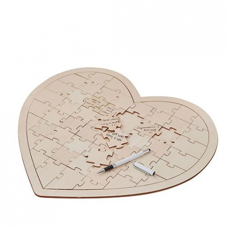 WOODEN JIGSAW PUZZLE HEART