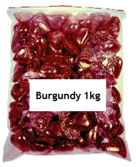 CHOCOLATE HEART BURGUNDY 1KG
