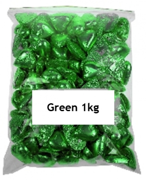 CHOCOLATE HEART GREEN 1KG