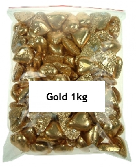CHOCOLATE HEART GOLD 1KG