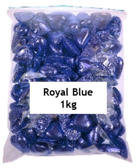 CHOCOLATE HEART ROYAL BLUE 1KG