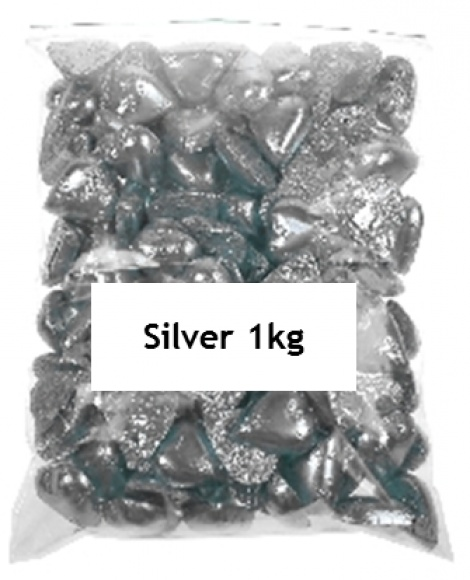 CHOCOLATE HEART SILVER 1KG