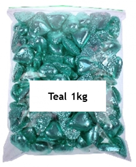 CHOCOLATE HEART TEAL 1KG