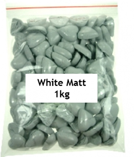 CHOCOLATE HEART WHITE 1KG