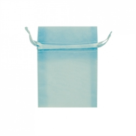 MINI ORGANZA BAG - BABY BLUE
