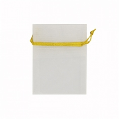 MINI ORGANZA BAG - WHITE GOLD