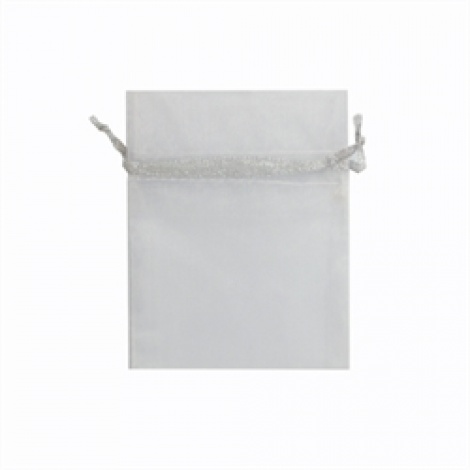 MINI ORGANZA BAG - WHITE SILVER