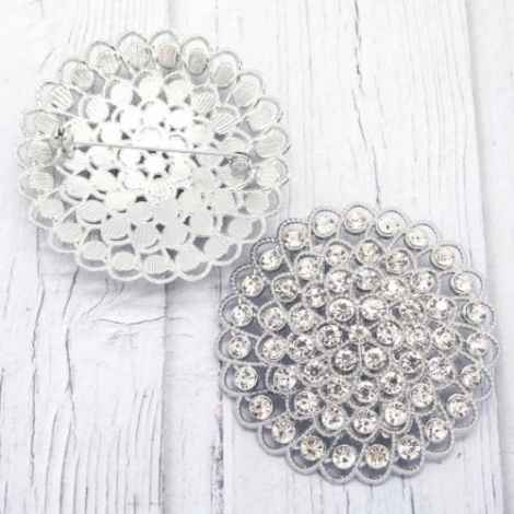 FILIGREE RHINESTONE BROOCH