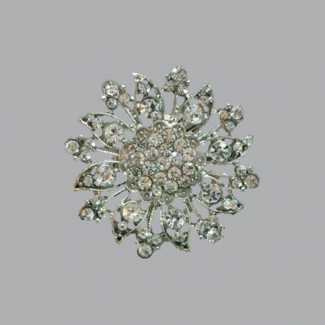 SUNFLOWER RHINESTONE BROOCH
