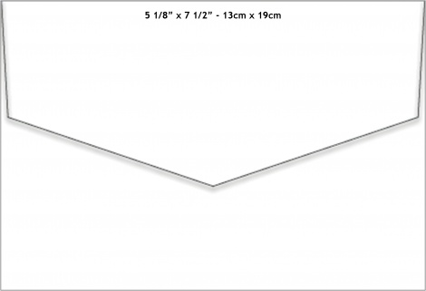 13X19CM MATT ENVELOPE - CRISP WHITE