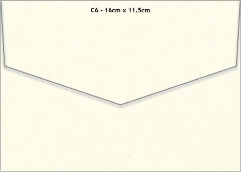 C6 MATT ENVELOPE - WARM IVORY