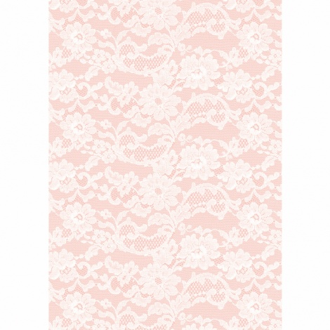 A4 ENGLISH LACE ROSE PAPER