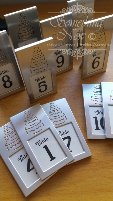 HIRE MINI WEDDING CAKE FRAME WITH TABLE NUMBER