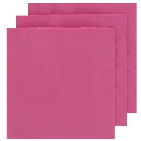 NAPKIN COLOUR: MAGENTA PINK FOR PERSONALISED TISSUE NAPKIN