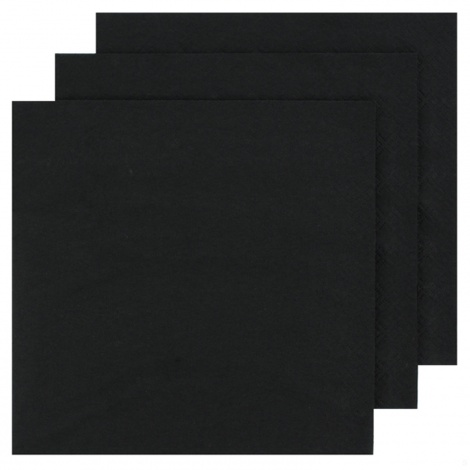 NAPKIN COLOUR: BLACK FOR PERSONALISED TISSUE NAPKIN