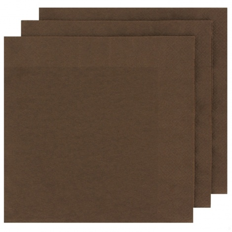 NAPKIN COLOUR: BROWN FOR PERSONALISED TISSUE NAPKIN