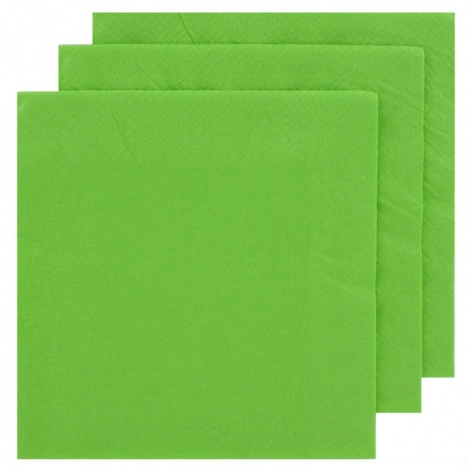 NAPKIN COLOUR: LIME GREEN FOR PERSONALISED TISSUE NAPKIN