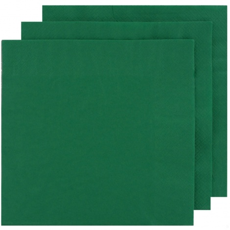 NAPKIN COLOUR: DARK GREEN FOR PERSONALISED TISSUE NAPKIN