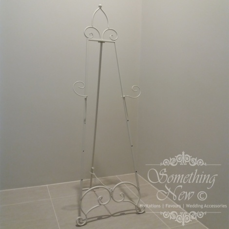 HIRE - METAL EASEL OFF WHITE