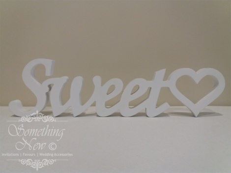 HIRE WOODEN SIGN - SWEET HEART 12CM