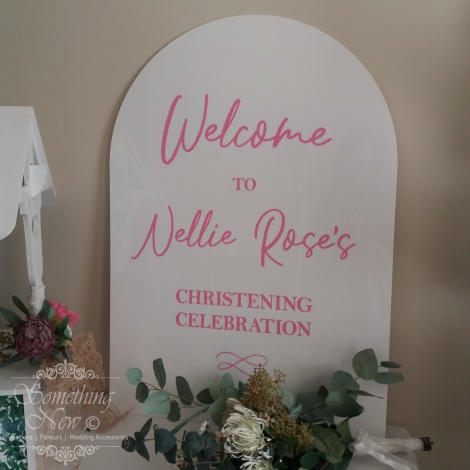 HIRE A1 ACRYLIC ARCH WELCOME SIGN