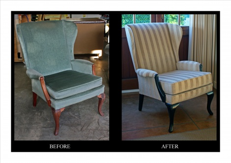 Recovered Wing Chair