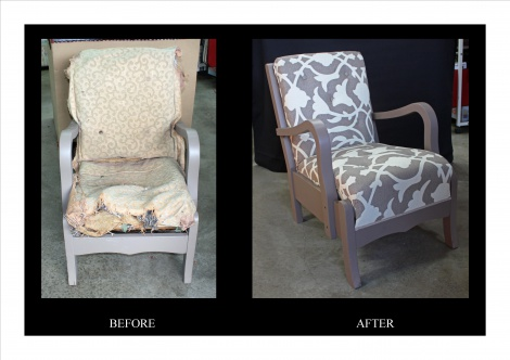 Before and After - Sling Chair