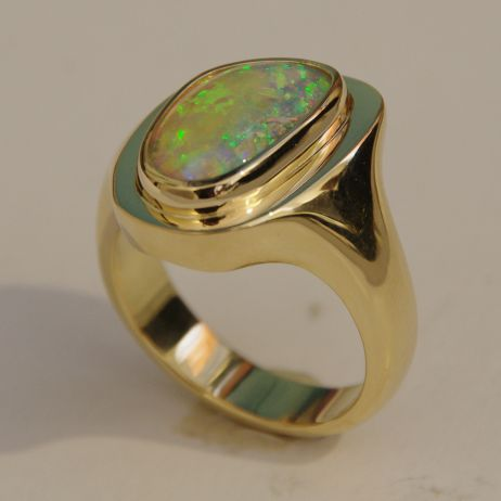 Crystal Opal Ring pic 2