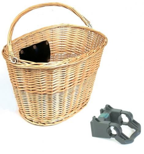 Basket - Front Q/R Woven Wicker