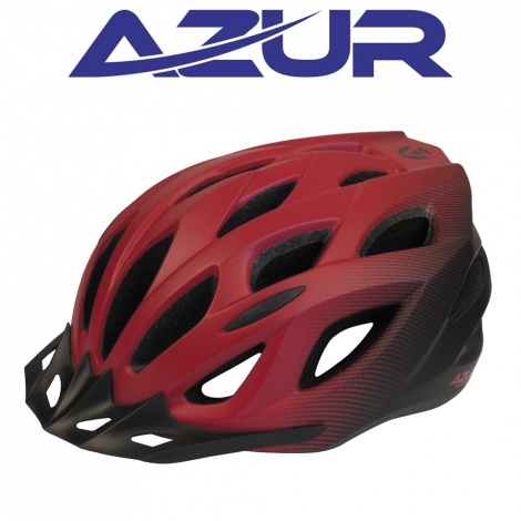 Helmet - Azur L61 Satin Red Black Fade