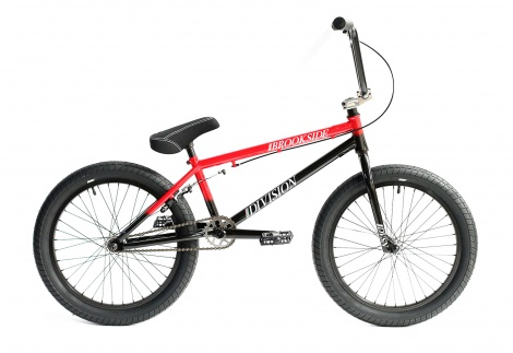 20in Division BMX - Brookside Black Red Fade
