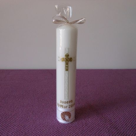 Baptism Candle - RH0025A (GOLD)
