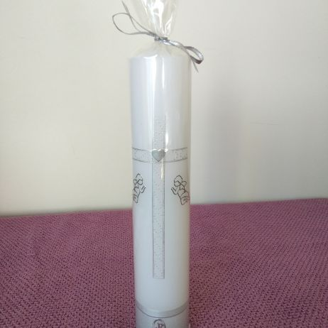 Baptism Candle - RH0025B (SILVER)