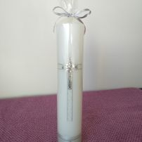 Baptism Candle - RH0025E (SILVER)