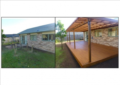 Pergola Before and After