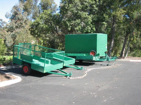 A selection of Trailers at site.
